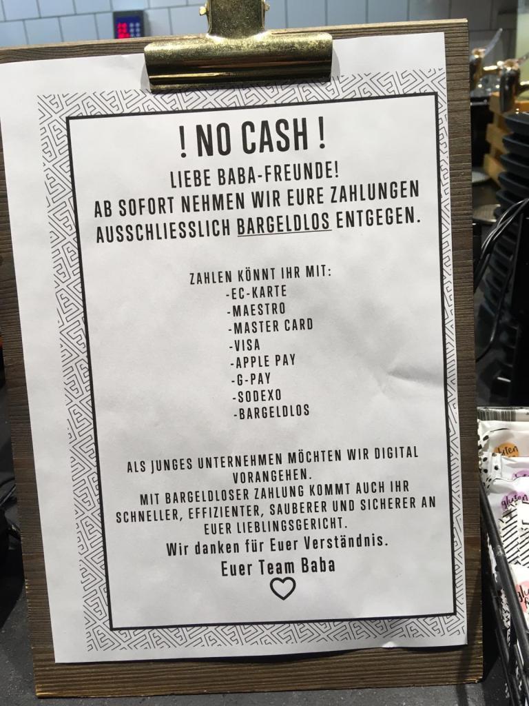 Restaurant in Düsseldorf setzt auf bargeldlose Zahlungsmittel